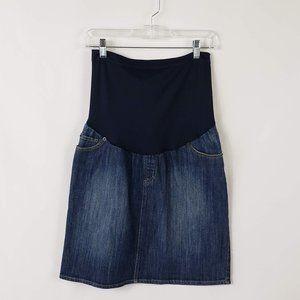 Liz Lange Maternity for Target Blue Denim Skirt